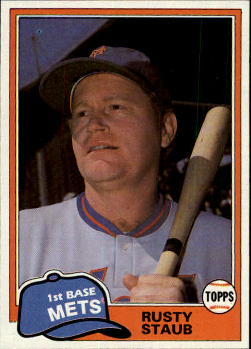 1981 Topps Traded #835 Rusty Staub