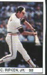 1982 All-Star Game Program Inserts #126 Cal Ripken Jr.