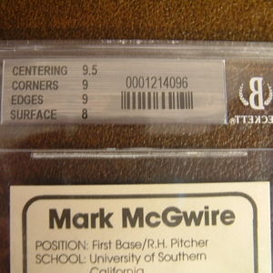 1982 Anchorage Glacier Pilots McGwire #1 Mark McGwire back image