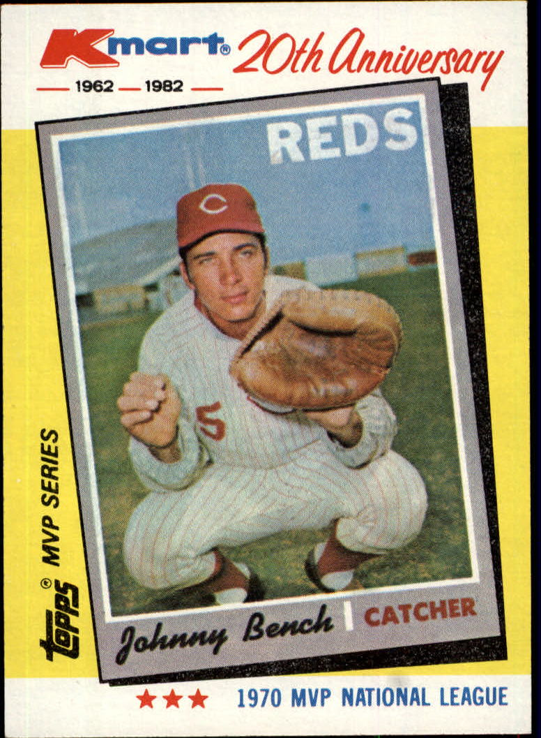 1982 K-Mart #18 Johnny Bench: 70NL