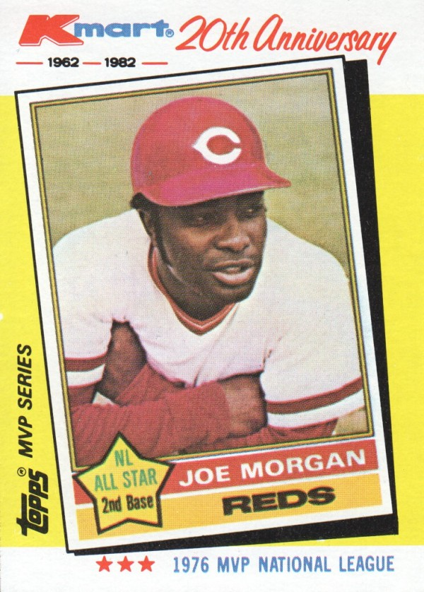 1982 K-Mart #30 Joe Morgan: 76NL front image
