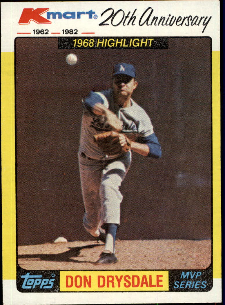 1982 K-Mart #42 Don Drysdale '68 HL/(Scoreless innings) front image