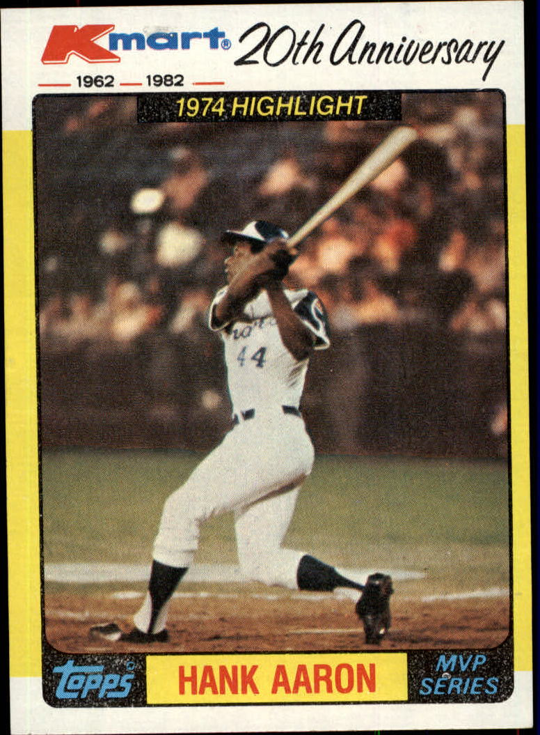 1982 K-Mart #43 Hank Aaron '74 HL/(Home run record)