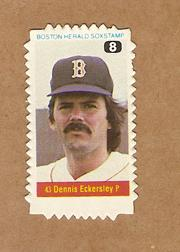 1982 Red Sox Herald Stamps #8 Dennis Eckersley