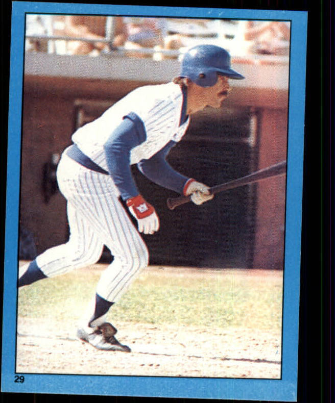 1982 Topps Stickers #29 Bill Buckner