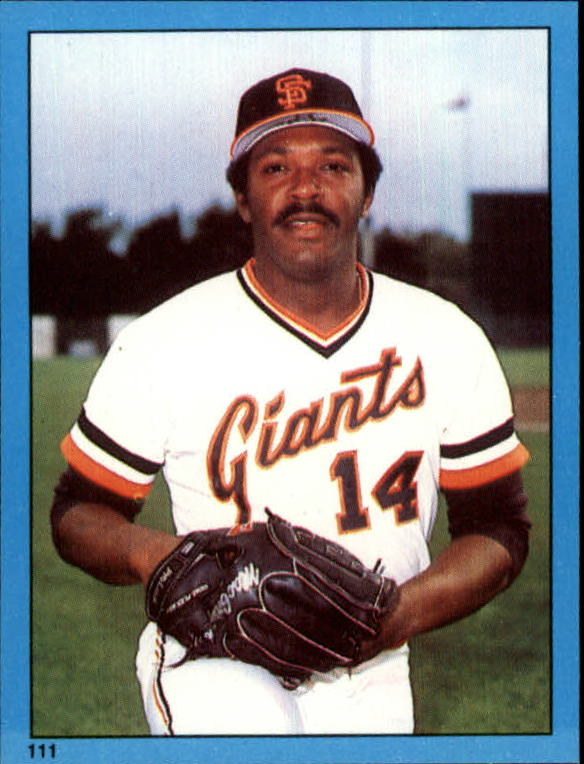 1982 Topps Stickers #111 Vida Blue