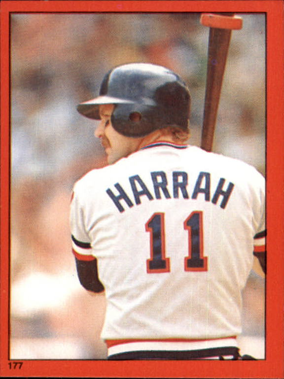 1982 Topps Stickers #177 Toby Harrah