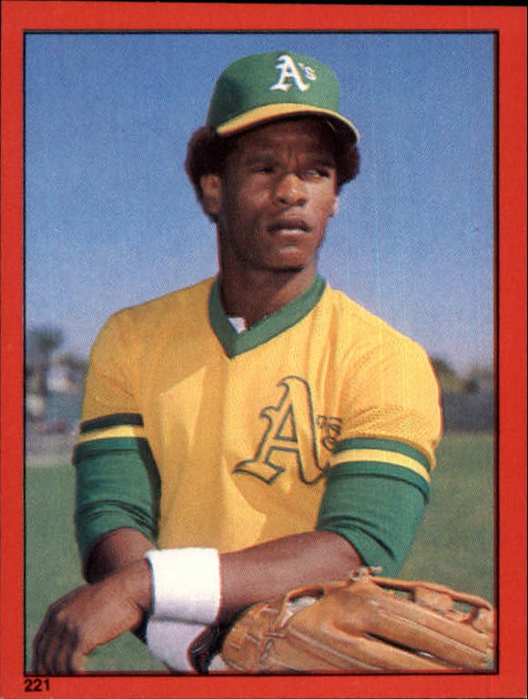 1982 Topps Stickers #221 Rickey Henderson