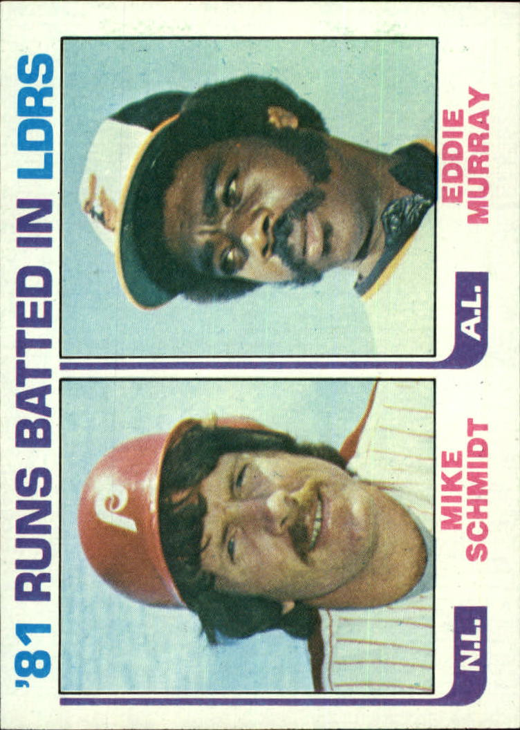1982 Topps #163 Mike Schmidt/E.Murray LL
