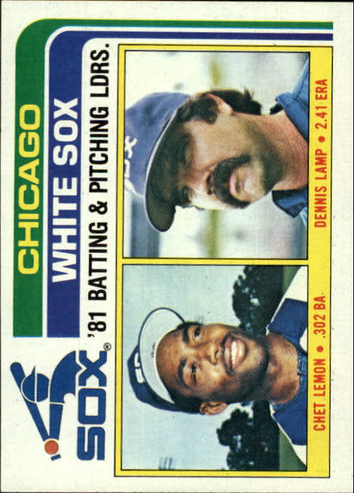 1982 Topps #216 White Sox TL/BA: Chet Lemon/Pitching: Dennis Lam