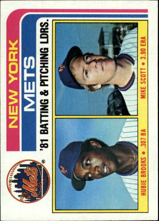 1982 Topps #246 New York Mets TL/BA: Hubie Brooks/Pitching: Mike