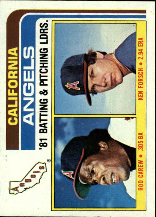 1982 Topps #276 Angels TL/Rod Carew