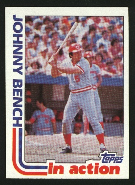 1982 Topps #401 Johnny Bench IA