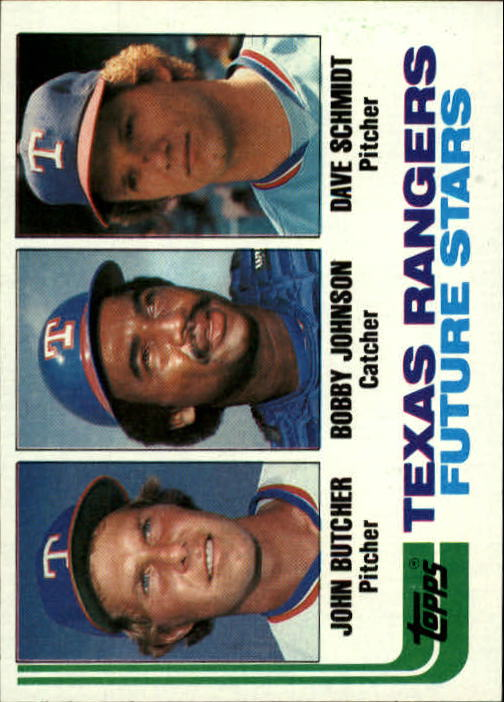 1982 Topps #418 John Butcher/Bobby Johnson RC/Dave Schmidt RC