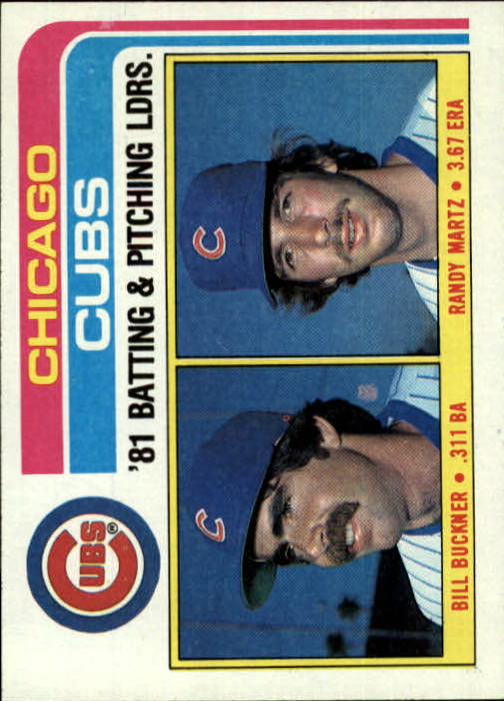 1982 Topps #456 Chicago Cubs TL/BA: Bill Buckner/Pitching: Randy