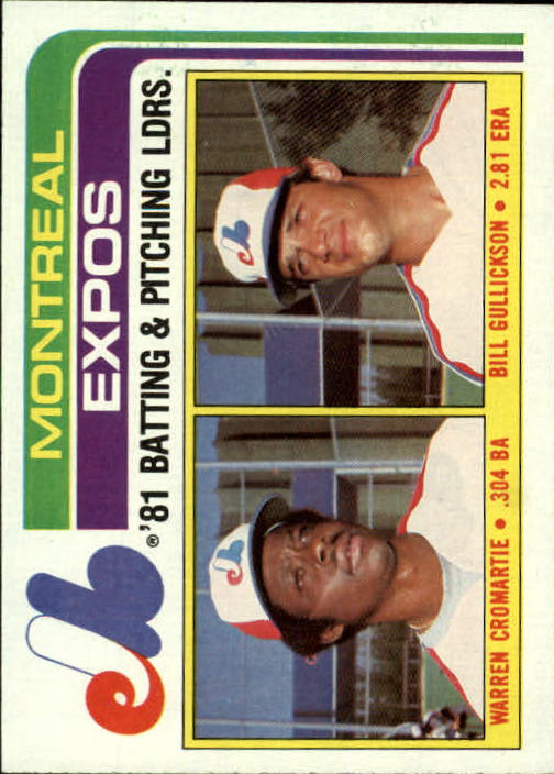1982 Topps #526 Expos TL/BA: Warren Cromartie/Pitching: Bill Gul