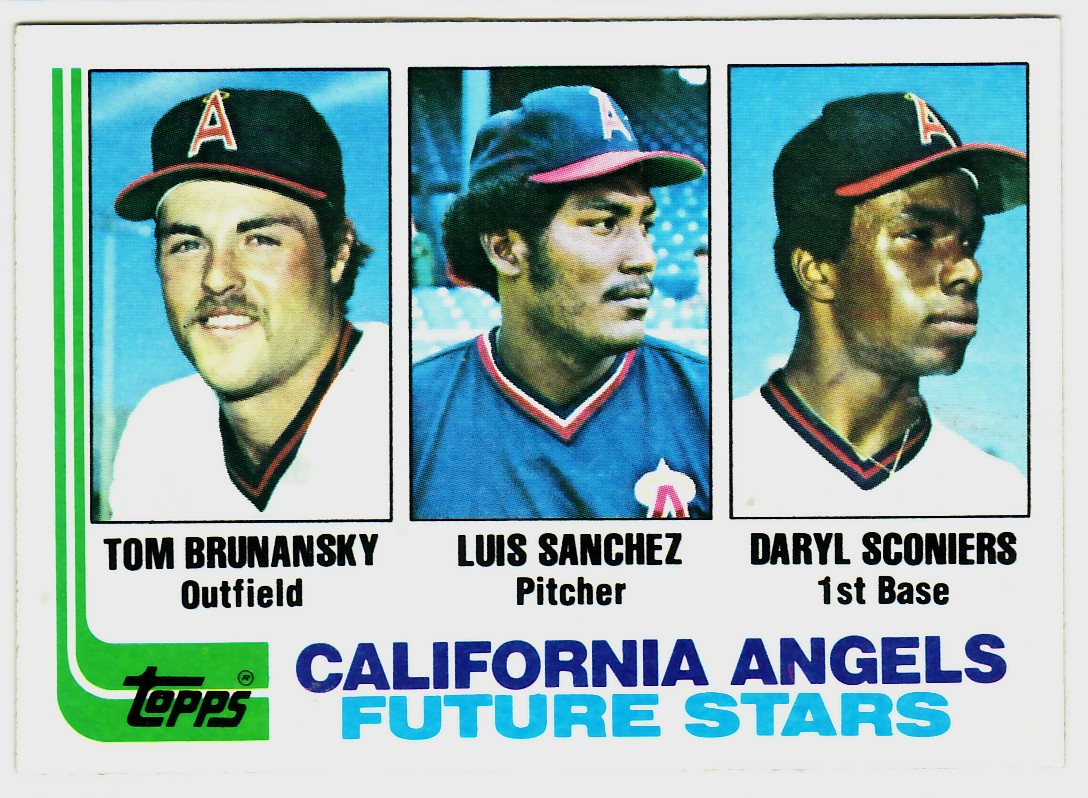 1982 Topps #653 Tom Brunansky RC/Luis Sanchez RC/Daryl Sconiers RC