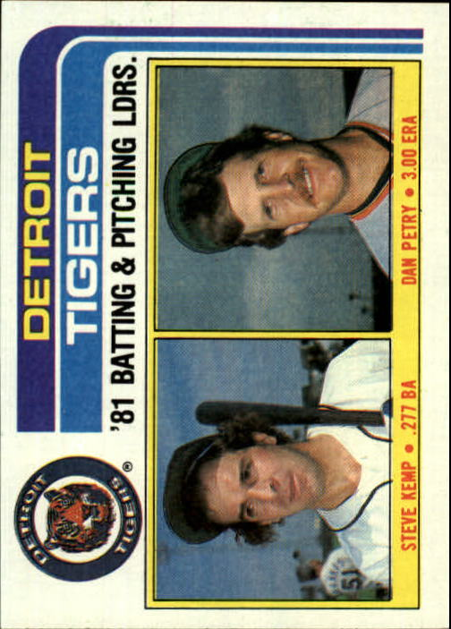 1982 Topps #666 Tigers TL/BA: Steve Kemp/Pitching: Dan Petry/(C