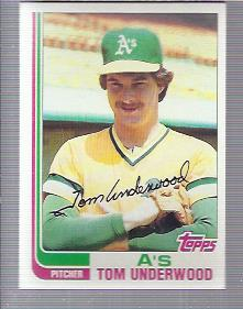 1982 Topps #757 Tom Underwood
