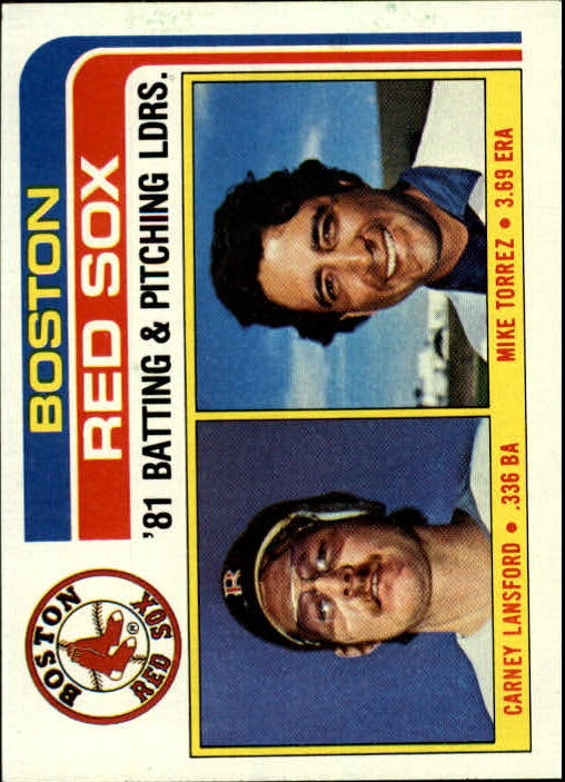 1982 Topps #786 Red Sox TL/BA: Carney Lansford/Pitching: Mike To