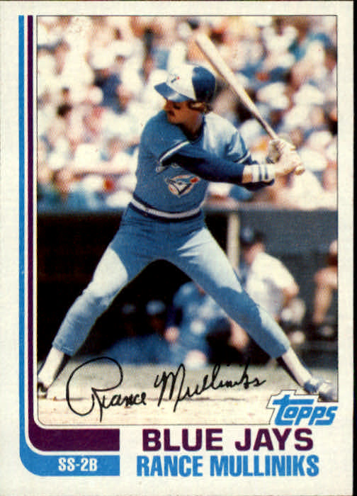 1982 Topps Traded #78T Rance Mulliniks