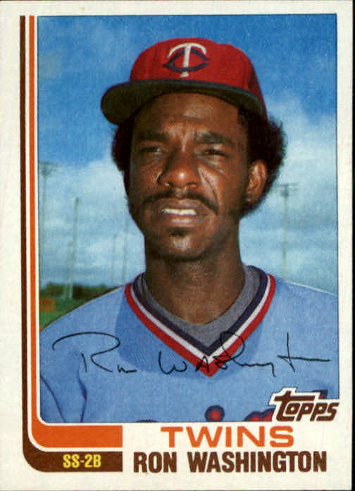 1982 Topps Traded #124T Ron Washington XRC