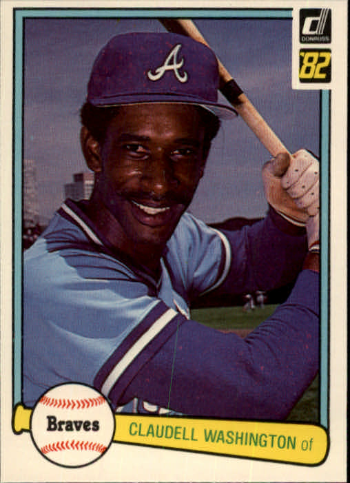1982 Donruss #58 Claudell Washington