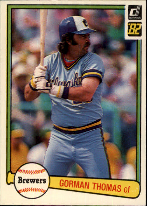 1982 Donruss #132 Gorman Thomas