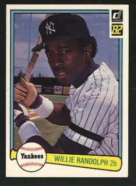 1982 Donruss #461 Willie Randolph