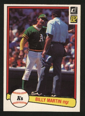 1982 Donruss #491 Billy Martin MG front image