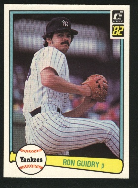 1982 Donruss #548 Ron Guidry