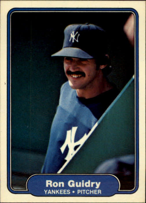 1982 Fleer #38 Ron Guidry