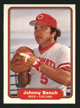 1982 Fleer #57 Johnny Bench