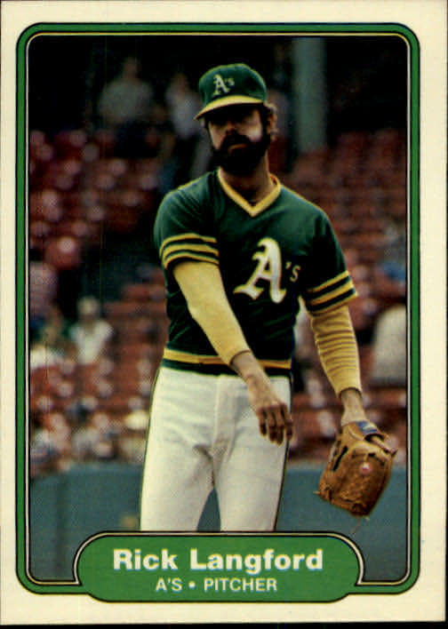 1982 Fleer #98 Rick Langford