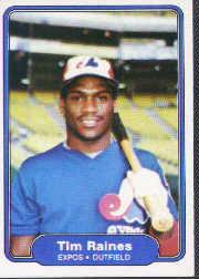 1982 Fleer #202 Tim Raines