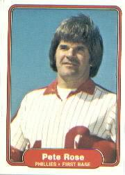 1982 Fleer #256 Pete Rose
