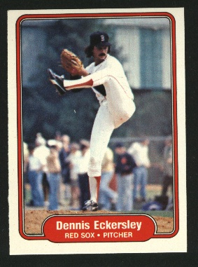 1982 Fleer #292 Dennis Eckersley