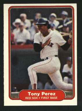 1982 Fleer #302 Tony Perez