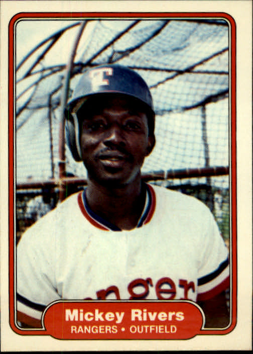 1982 Fleer #328 Mickey Rivers