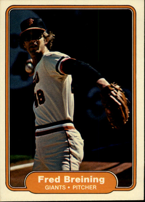 1982 Fleer #385 Fred Breining front image