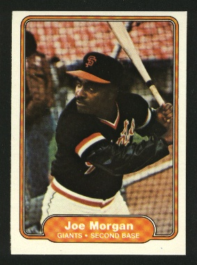 1982 Fleer #397 Joe Morgan front image