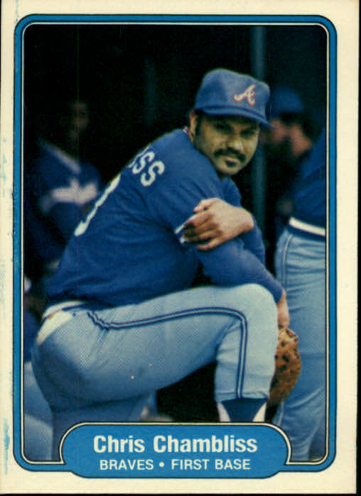 1982 Fleer #433 Chris Chambliss