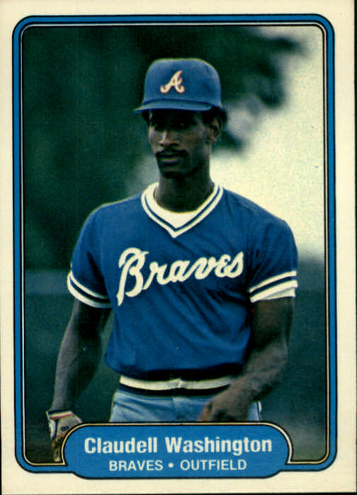 1982 Fleer #449 Claudell Washington