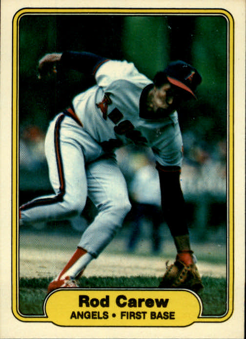 1982 Fleer #455 Rod Carew