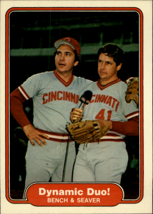 1982 Fleer #634 Johnny Bench/Tom Seaver