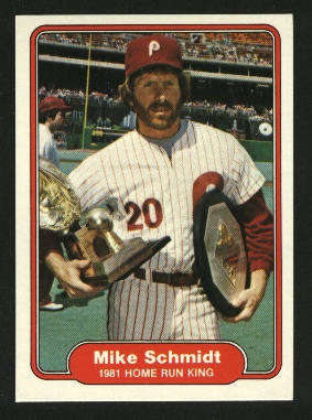 1982 Fleer #637 Mike Schmidt IA