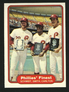 1982 Fleer #641 Lonnie Smith/Mike Schmidt/Steve Carlton