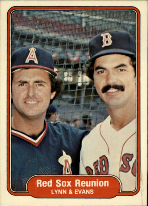 1982 Fleer #642 Red Sox Reunion/Fred Lynn/Dwight Evans