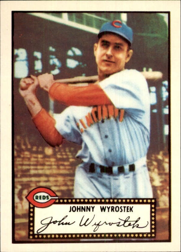 1983 Topps 1952 Reprint #13 Johnny Wyrostek