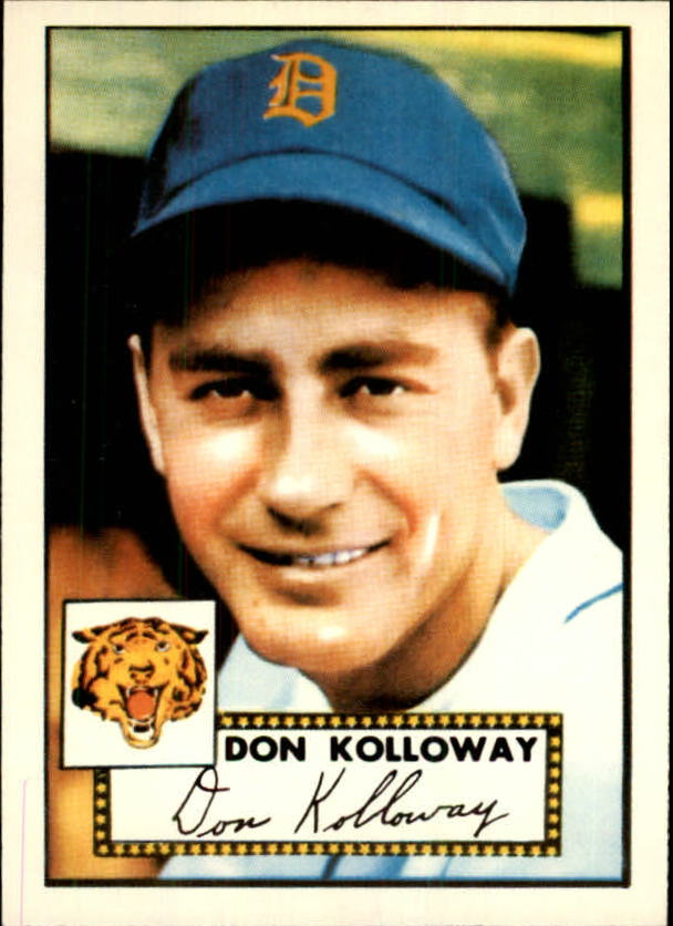 1983 Topps 1952 Reprint #104 Don Kolloway front image